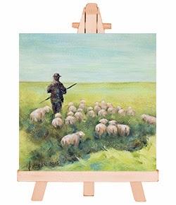 belijdenis kado of doop kado - mini schilderij De Herder psalm 23 Atelier for Hope Doetinchem