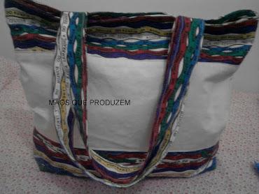 Bolsa de Algodão com tecido fitinha do Bomfim