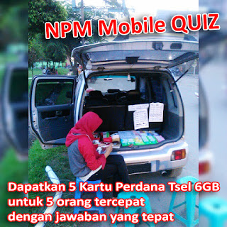 NPM Mobile QUIZ