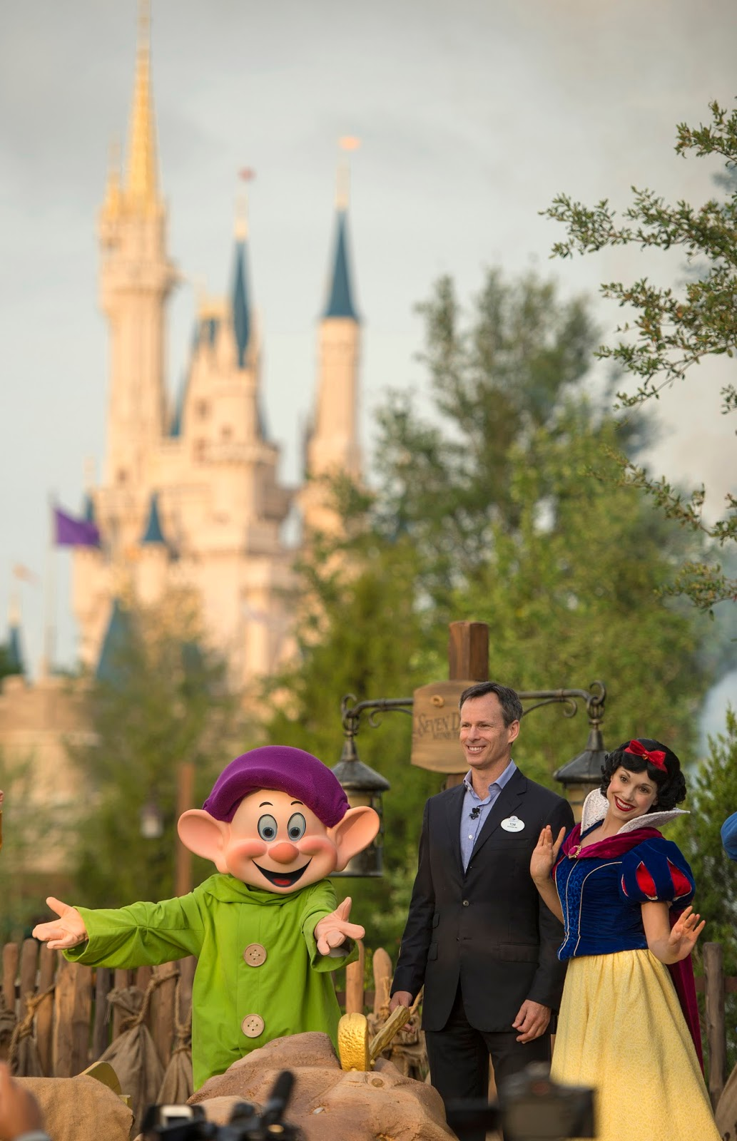 "Chairman Tom Staggs announced that the ""crowning jewel"" of New Fantasyland, the Seven Dwarfs Mine Train, will officially open on May 28."