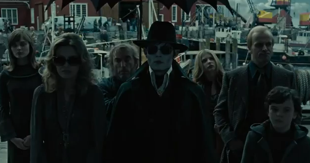 Dark Shadows 2012 Johnny Depp as the Barnabas Collins a 200 year old vampire with the 1972 Collins Descendant