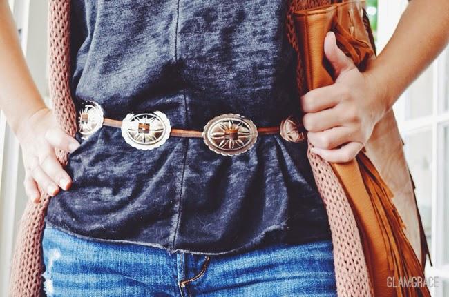 DIY southwest style concho belt