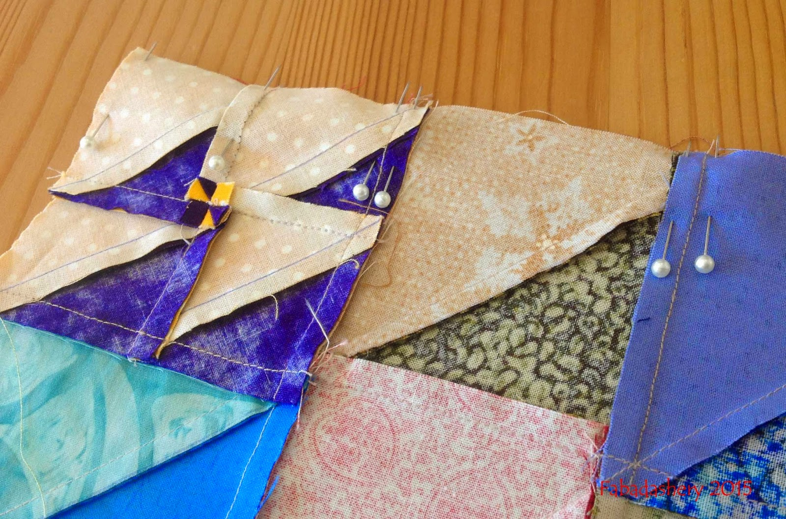 Double pinning quilt seams