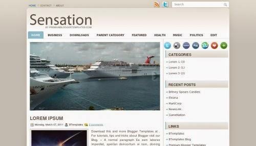Sensation - Free Blogger Template