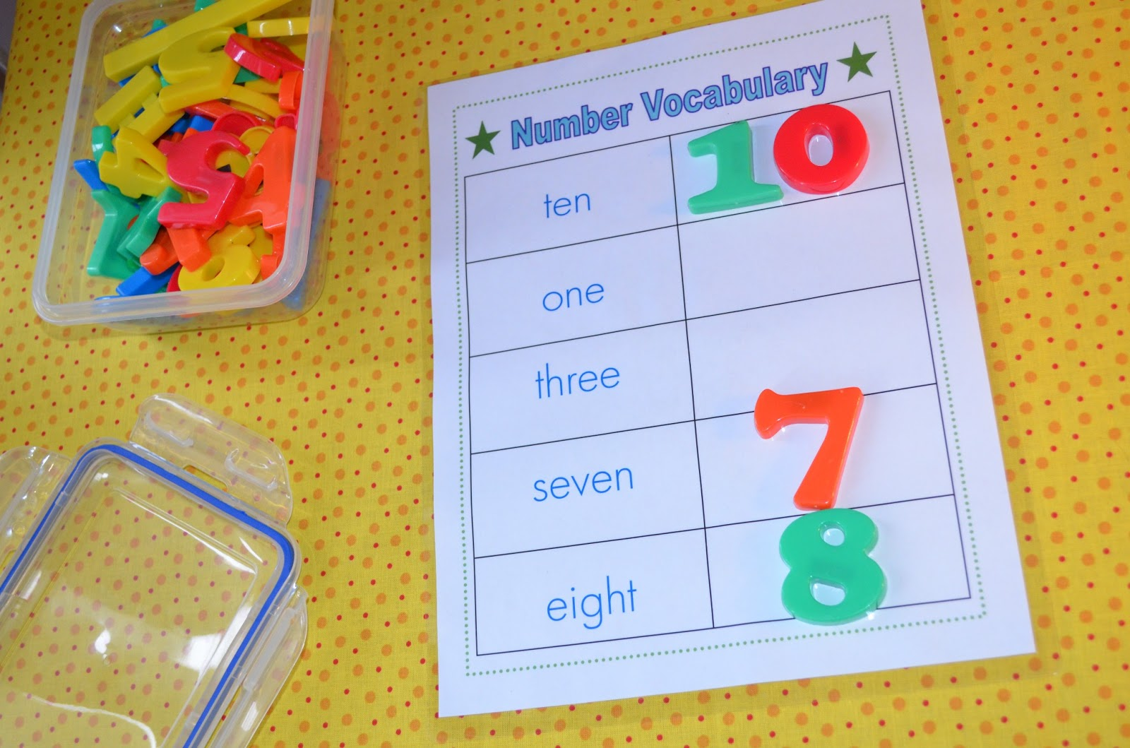 Literacy & Math Ideas: Primary Fun Learning: K-1 Math Vocabulary