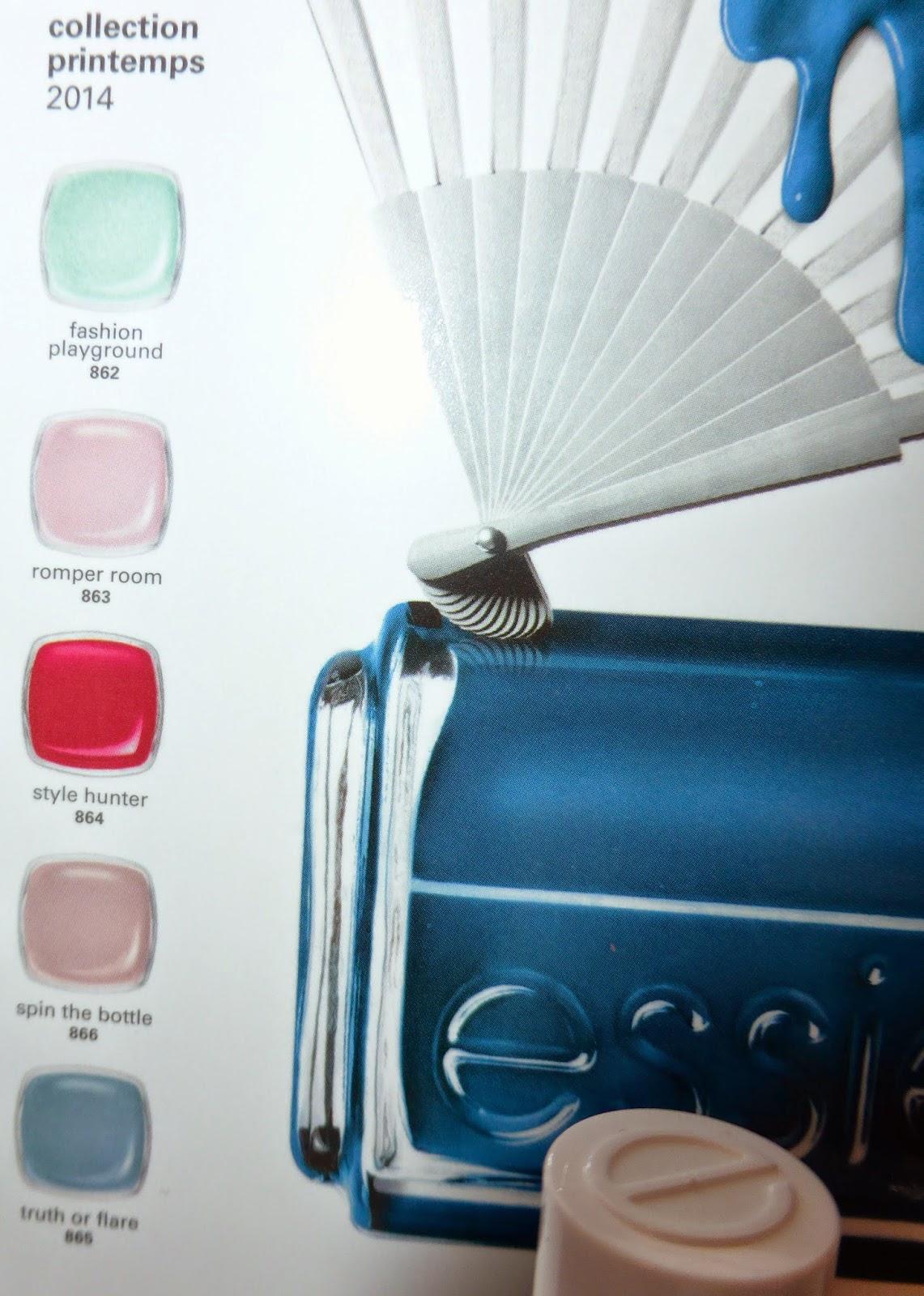 Voici une idée du nuancier des 6 nouvelles nuances de la collection printemps Essie Pro.