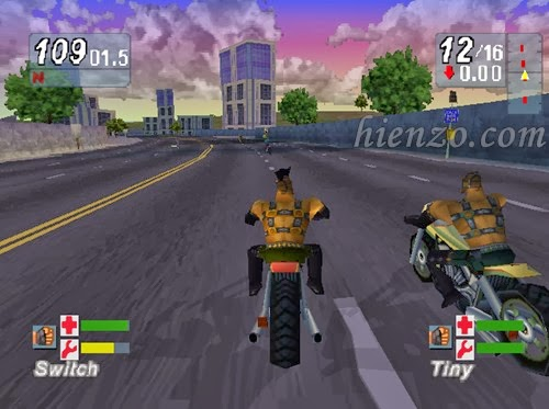 Road Rash Jailbreak PS1 Gameplay