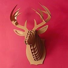 decoración de paredes, trofeos de caza, cabeza de ciervo de cartón
