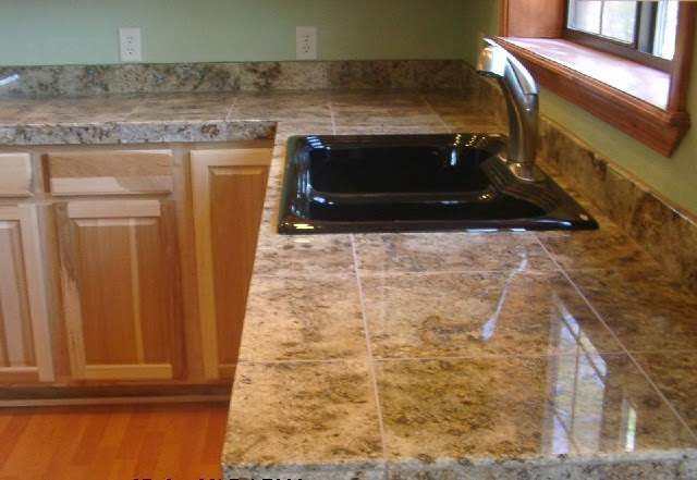 Marble Tile Countertop : picture of marble tile ideas for countertops marble tile kitchen