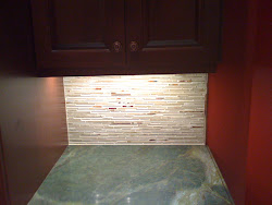 Tumbled Travertine Tile Backsplash