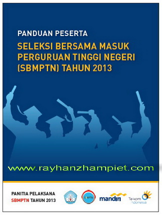 Dokumen Panduan Pendaftaran SBMPTN 2013