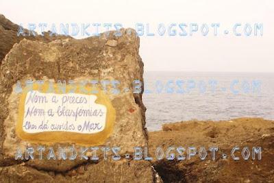 Às vezes, também o mar nos pode dar grandes lições de vida. / Sometimes, the sea can also give us great life lessons.
