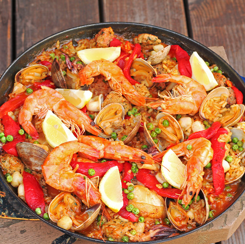 ... Inspired recipes from our travels to many exotic lands: Seafood Paella