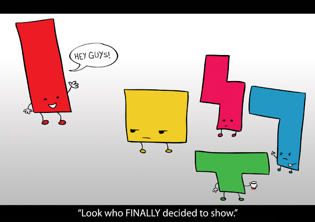 Tetris blocks, funny graphic