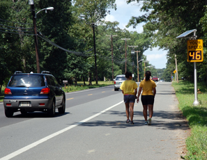 pedestrian safety, speed display sign