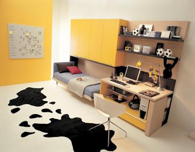 habitaciones juveniles color amarillo