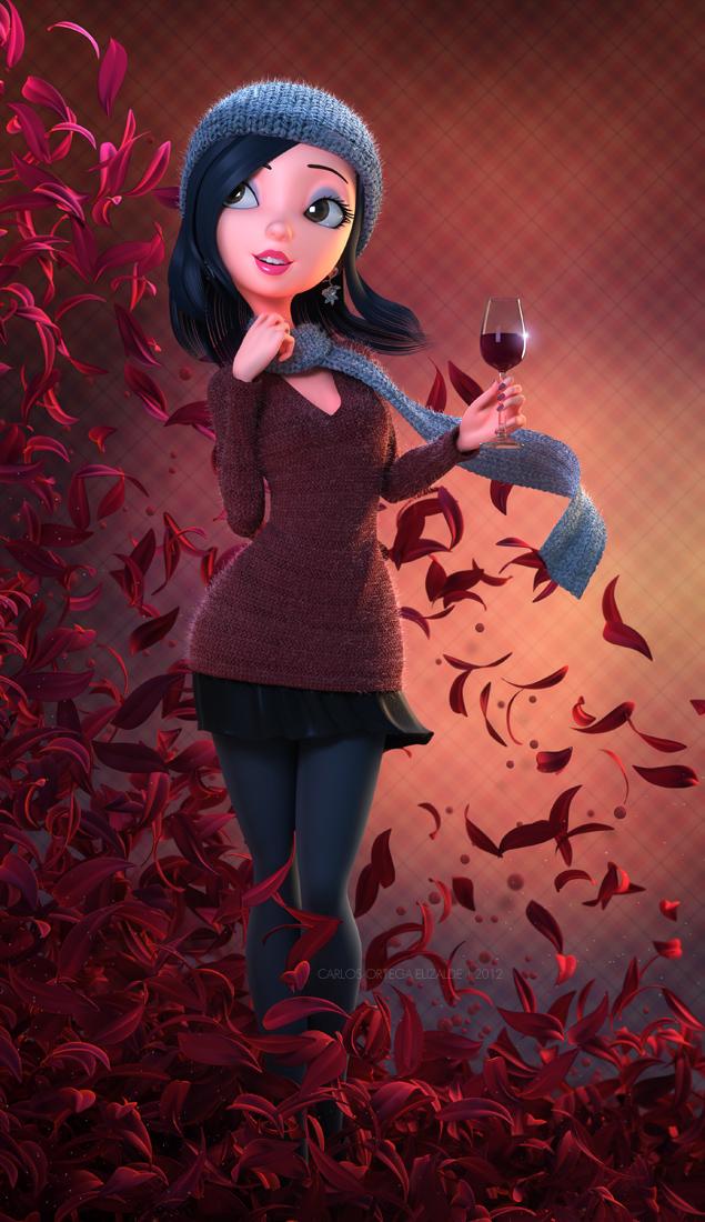 Cheers!, ilustración 3D realizada por el artista mexicano Carlos Ortega Elizalde