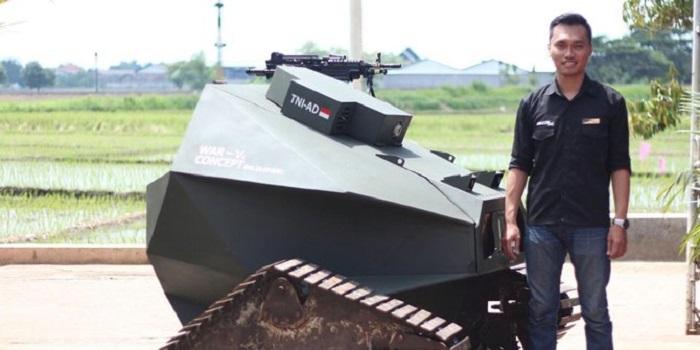 Masya Allah… Mahasiswa ITS Ini Berhasil Bikin Robot Tank untuk TNI
