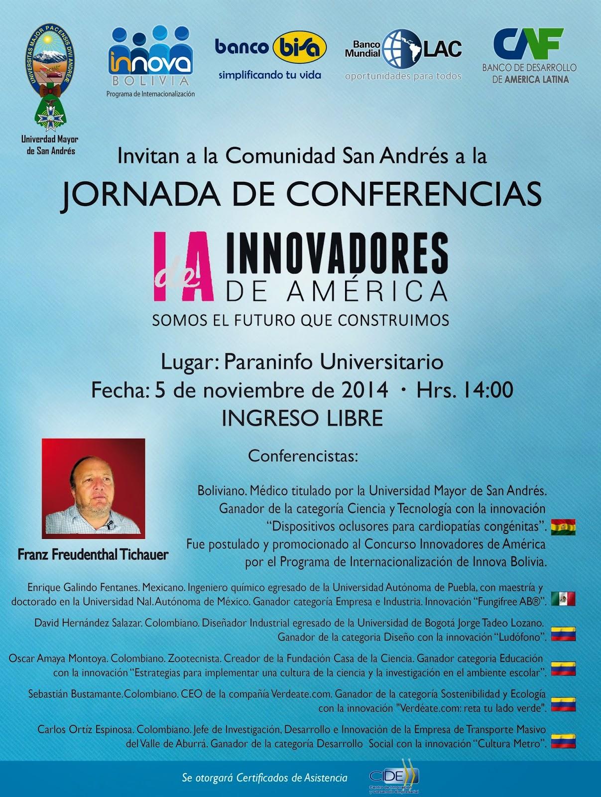 INNOVADORES DE AMÉRICA | NOTICIAS DE UNIVERSIDADES DE BOLIVIA