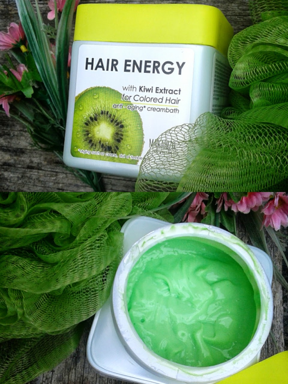 Review Makarizo Hair Energy Anti Aging Creambath With Kiwi For Colored Hair Jurnal Madamabi