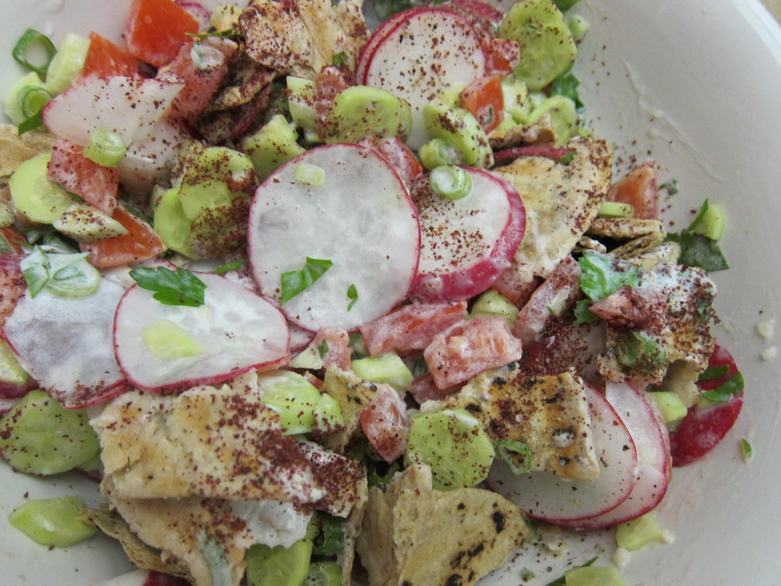 ama s fattoush from there is no escaping it na ama s fattoush recipe ...
