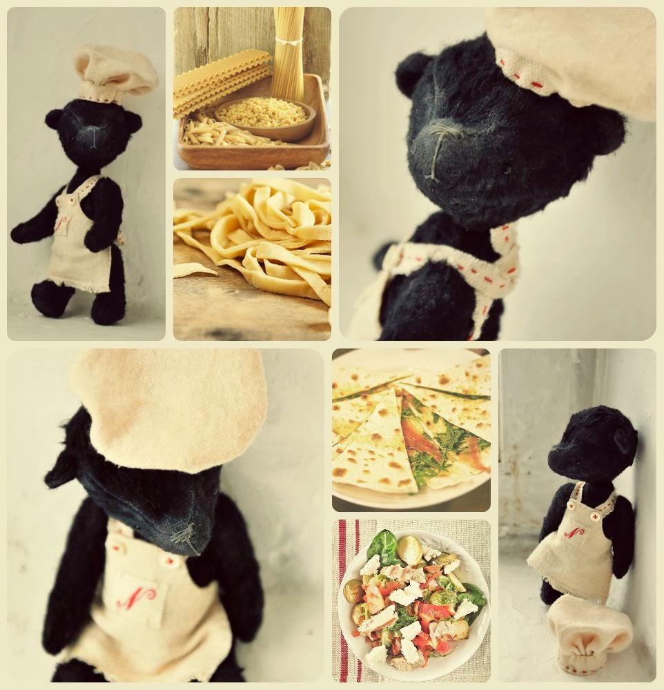 мишка кулинар, мишка повар, мишка игрушка ручной работы, подарок ресторатору, подарок другу