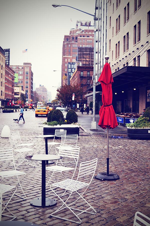 New York Kopfsteinpflaster Straße Oktober 2013