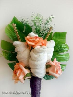 bukiet ze skarpetek rożek sizalowy 40 cm sizal skarpetki bukiet barbara wójcik