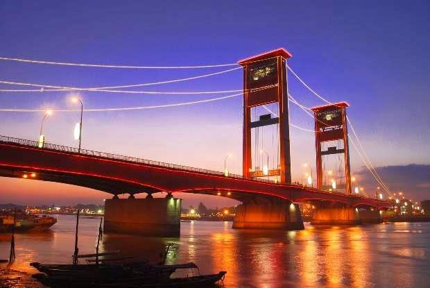 Jembatan Ampera : Tempat wisata di Palembang paling di kenal