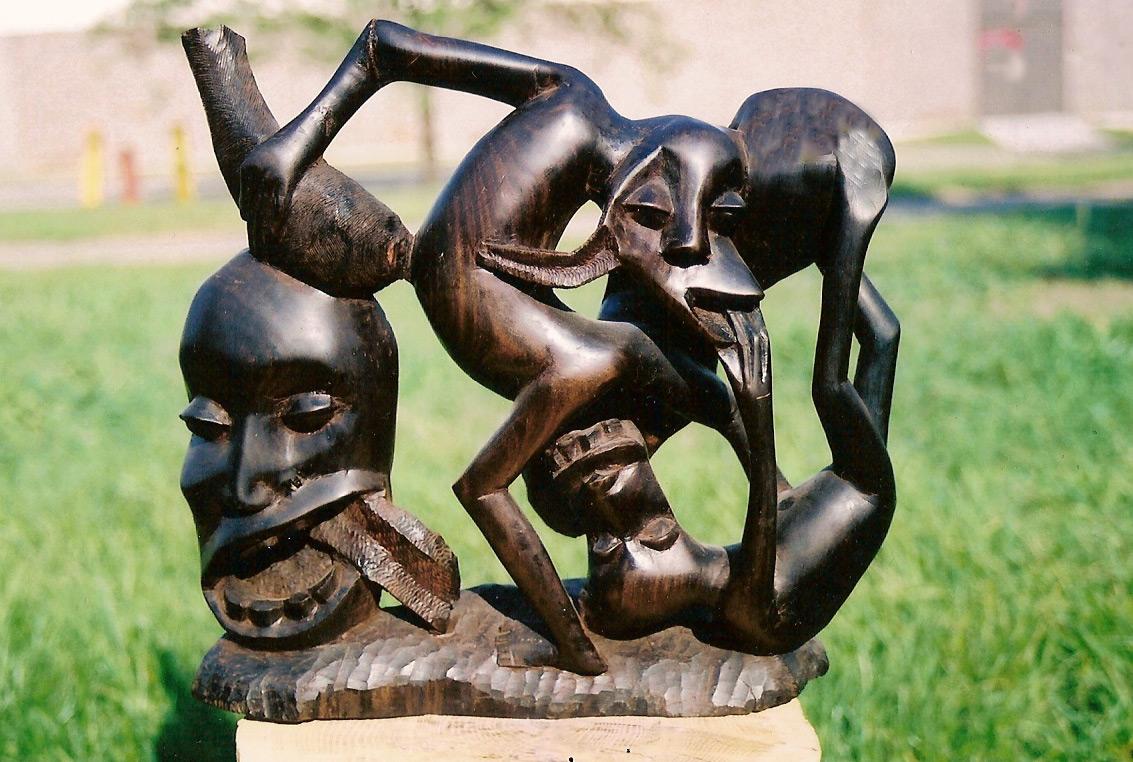 Exposi 199 195 O Faces Makonde Da Artista Visual Cida Lima Na