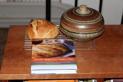 bread book, cloche and bread