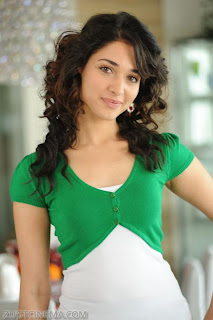 Tamanna in Oosaravelli   Tamanna in cute green white top and black skirt spicy Pictures