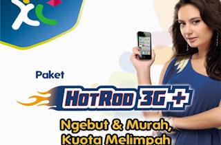 Cara Daftar Registrasi Internet XL HotRod 3G+ Harga Paket Terbaru 2016