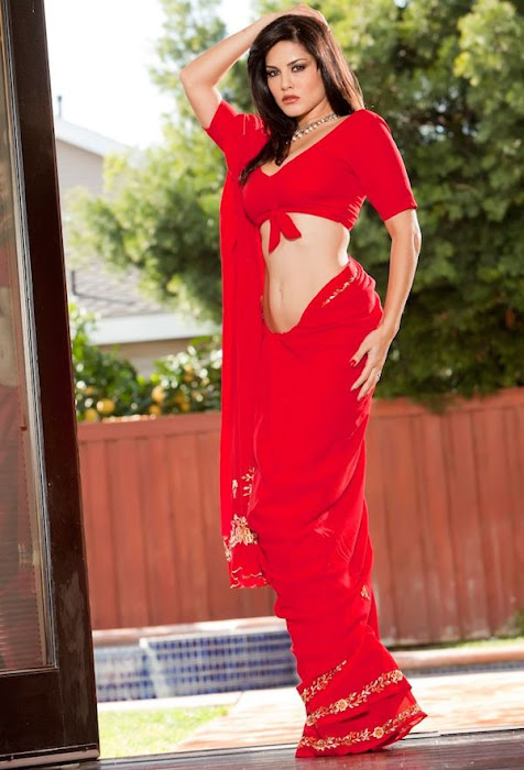 sunny leone | in red saree ss