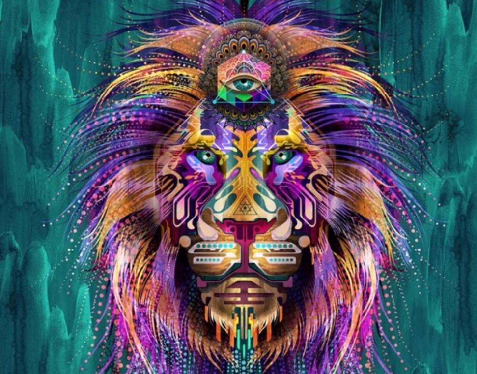 colorful hamsa drawing