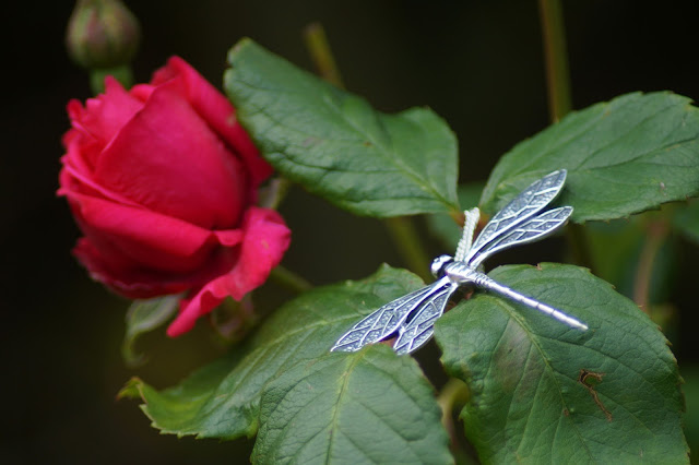 Dragonfly Pendant Lily Blanche jewellery