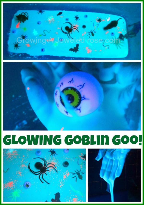Glowing Goblin Goo Halloween activity