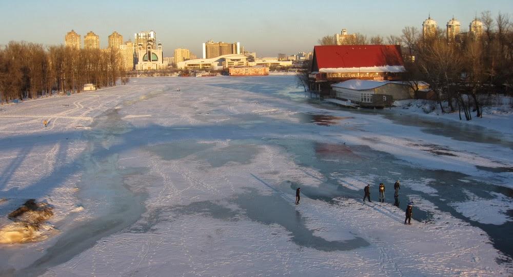 прогулка по льду