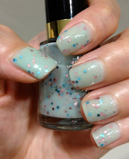 Revlon Whimsical (Deborah Lippmann Glitter in the Air dupe)