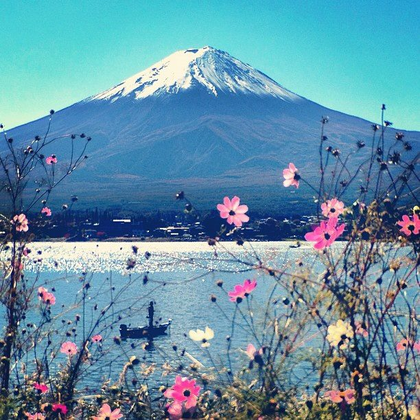Núi Phú Sĩ nhìn từ hồ Kawaguchi