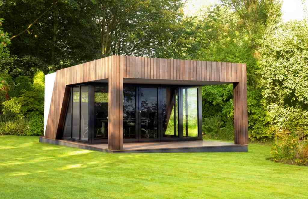 martin lawson from swift garden rooms has been in touch with this intriguing bespoke design unusual and appealing shapes are formed with a buttressed - Garden Sheds With Veranda