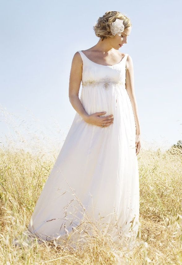Whiteazalea simple dresses simple chiffon dresses make a for Wedding dress for pregnant woman
