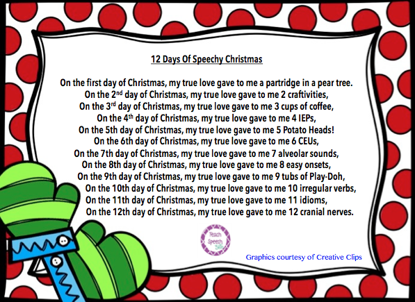 here is my speechified version of the 12 days of christmas