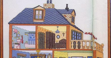 Cross stitch dollhouses la casa de tus suenos house of - Casa de tus suenos ...