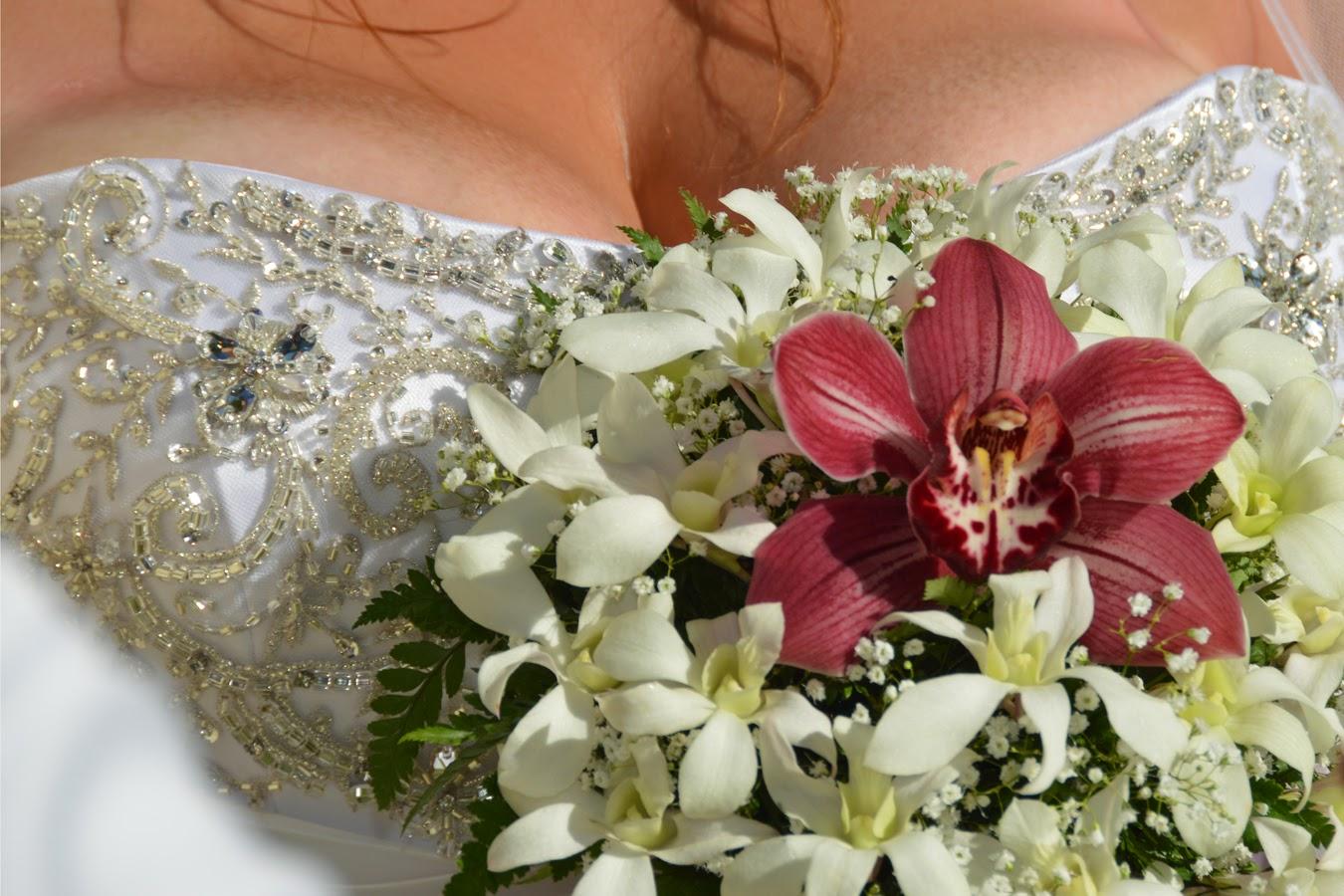 bride's cleavage