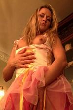 Kinky Naughty Tinkerbell hangs weights on her labia lips