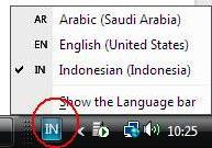 Bahasa Arab di Windows XP
