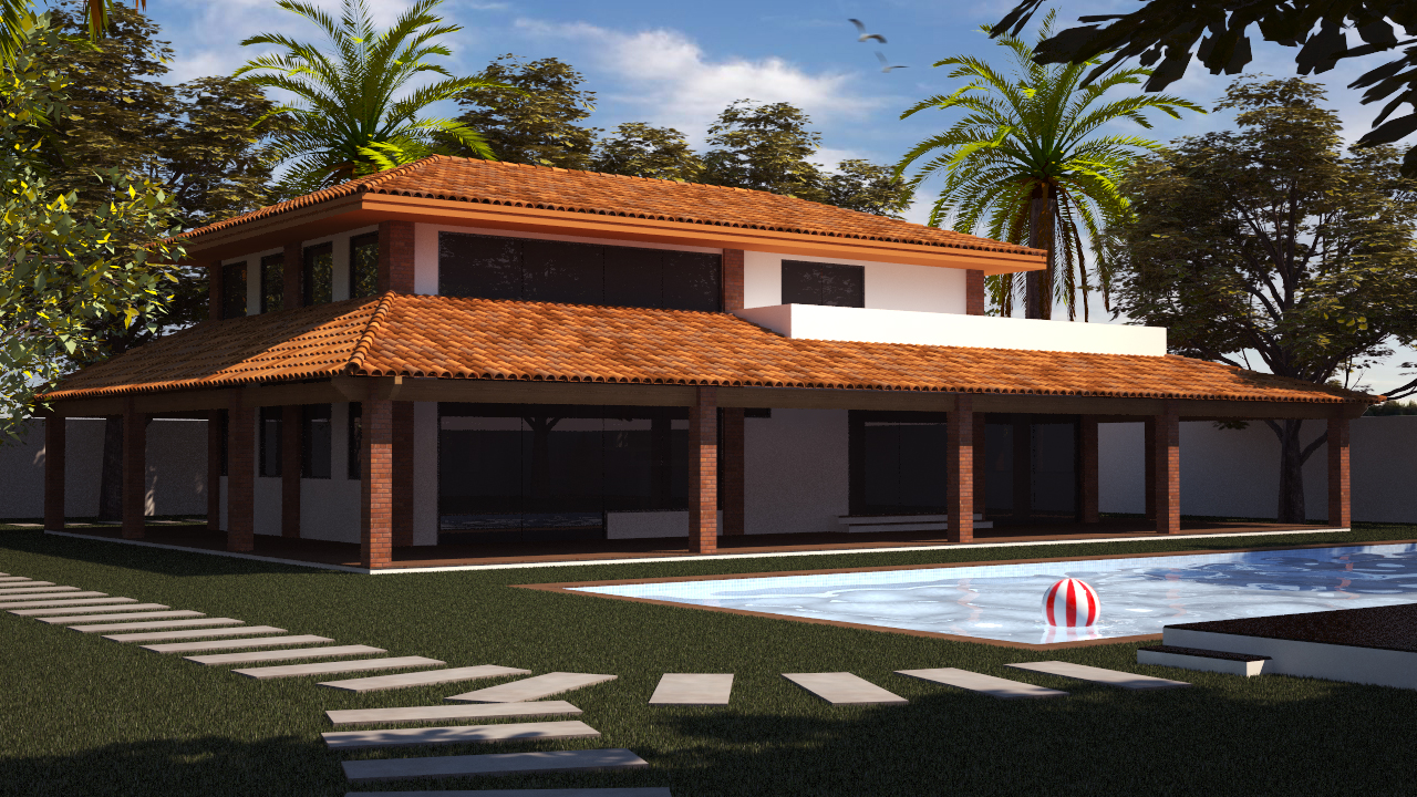 Perspectiva arquitetura casa de campo - Casa de campos ...