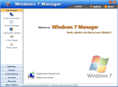 Free Download Windows 7 Manager 4.2.1 with Keygen Full Version