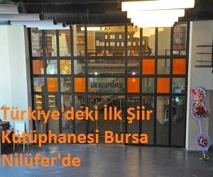 Türkiye'deki İlk Şiir Kütüphanesi Bursa Nilüfer'de
